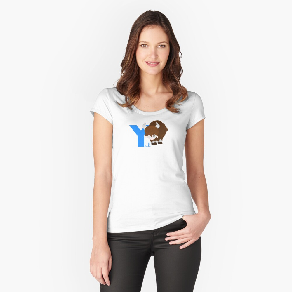 y for yak Women's Fitted Scoop T-Shirt Front