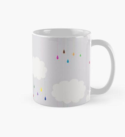 Rainbow Colored Rain and Clouds Mug