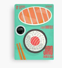 Jiro dreams of sushi, David Gelb, film documentary poster, Sukiyabashi Jiro Ono, japanese chef Canvas Print