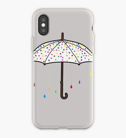 Colorful Rain Umbrella iPhone Case