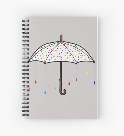 Colorful Rain Umbrella Spiral Notebook