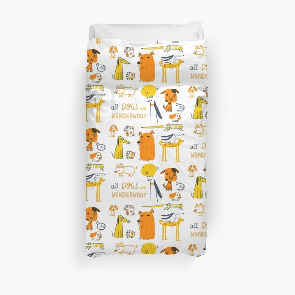 All Dogs are Wonderwoof Duvet Cover