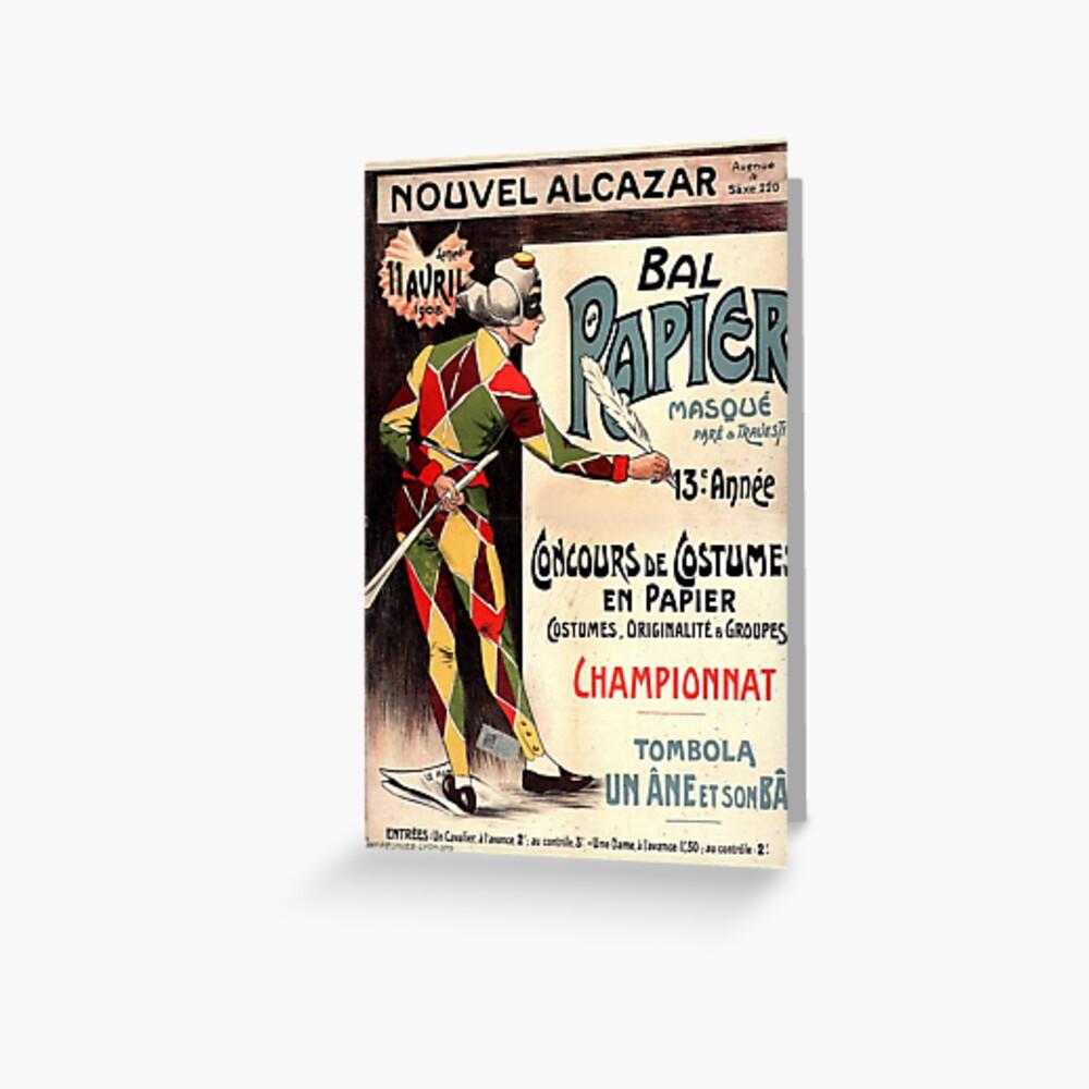 """nouvel alcazar 1908 clown joker vintage french"