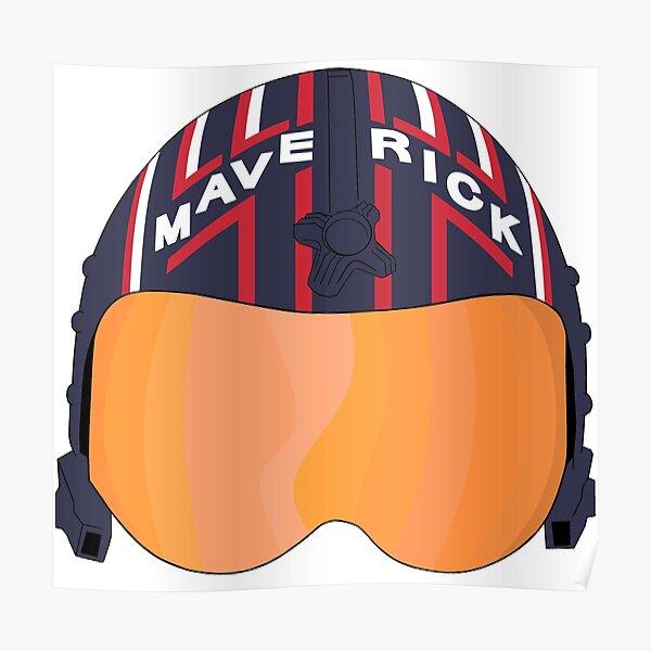 Maverick Helmet Stylized Poster