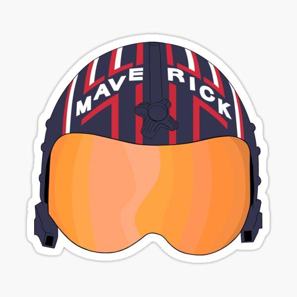 Maverick Helmet Stylized Sticker