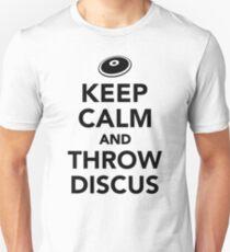 Keep calm and throw discus Unisex T-Shirt