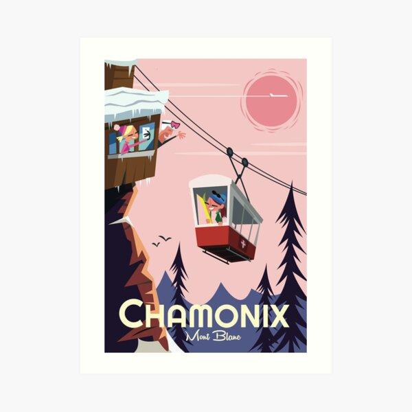 Affiche Chamonix Mont Blanc Impression artistique