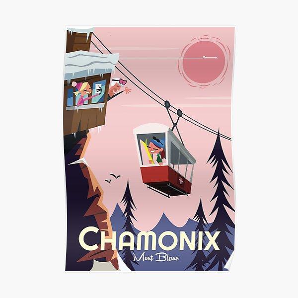Affiche Chamonix Mont Blanc Poster