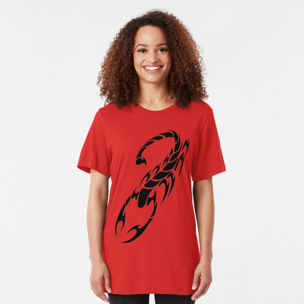 Tribal Scorpion Slim Fit T-Shirt