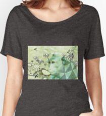Affe wilde Tiere in gemischten Medien des Dschungels außerhalb der analogen Fotozeichnungszeichnung der Kunst Loose Fit T-Shirt