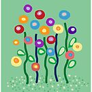 Garden flowers by goanna