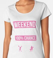 Weekend Forecast Funny Cheerleading T-Shirt Cheerleader Gift Women's Premium T-Shirt