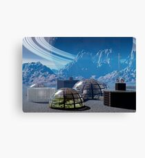 Outpost 47.  Remote base in outer space. Canvas Print