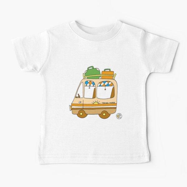 Bay Window Camper Van - Kids // Childrens T-Shirt Born To Camp Bus