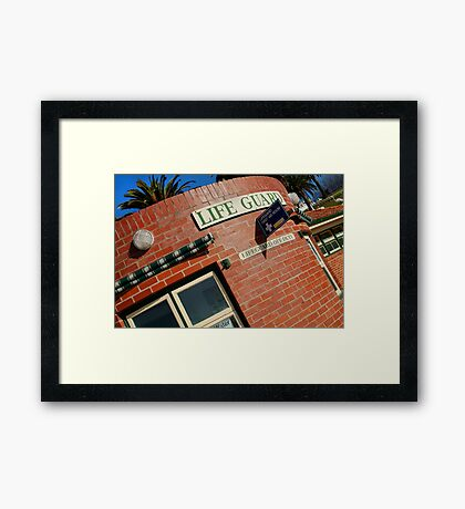 Life Guard,Eastern Beach Nostalgia Framed Print