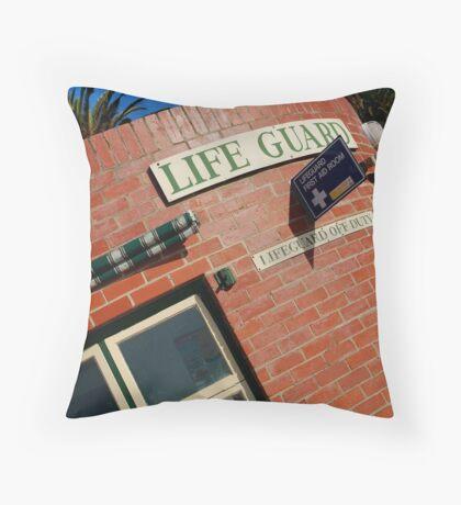 Life Guard,Eastern Beach Nostalgia Throw Pillow