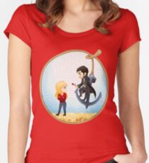 Captain Swan Women's Fitted Scoop T-Shirt