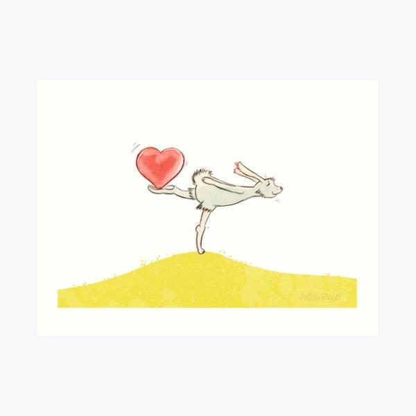 Hase mit Herz Kunstdruck