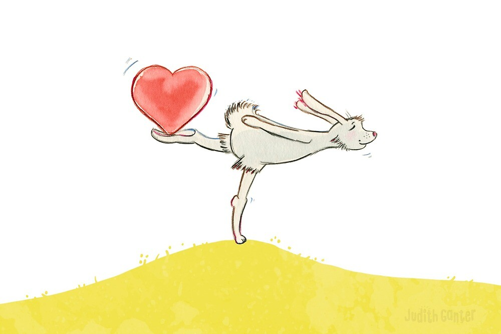 Hase mit Herz von Judith Ganter