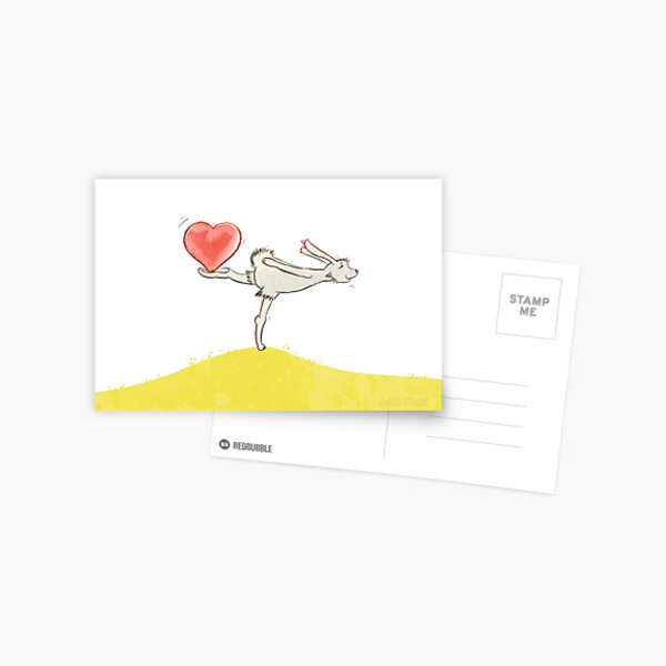 Hase mit Herz Postkarte