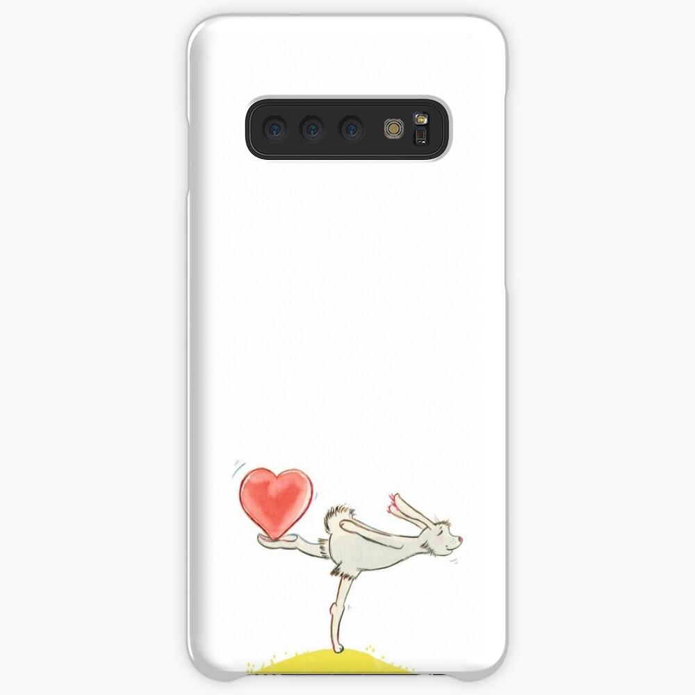 Hase mit Herz Hüllen & Klebefolien für Samsung Galaxy