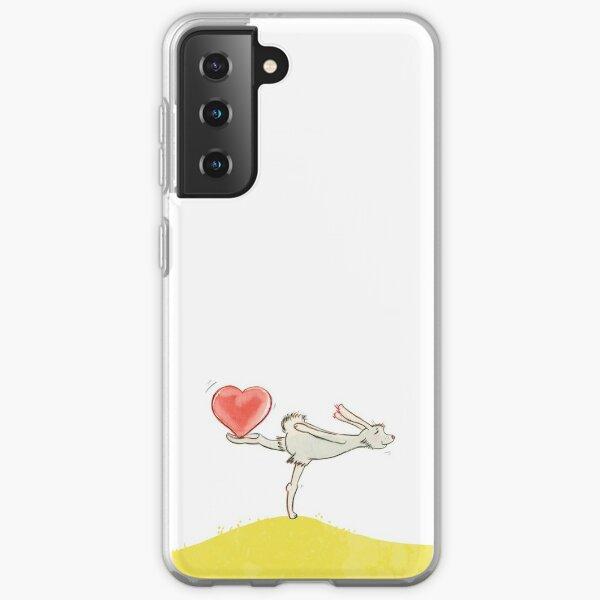 Hase mit Herz Samsung Galaxy Flexible Hülle