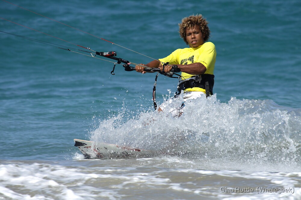 Kite Surfing Dominican Style by Gina Ruttle  (Whalegeek)