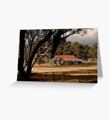 Old Shedding Lexton Victoria Greeting Card