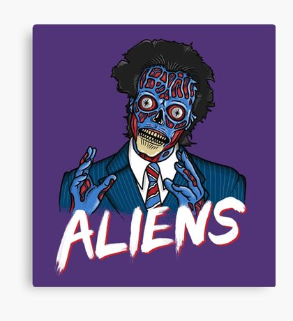 BECAUSE ALIENS Canvas Print