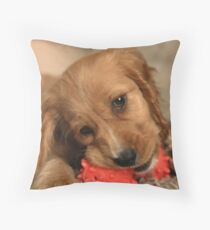 Golden Cocker Spaniel Puppy Throw Pillow
