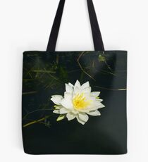 White Water Lily (Nymphaea odorata) Tote Bag