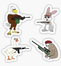The Combat Critters Sticker Pack Sticker