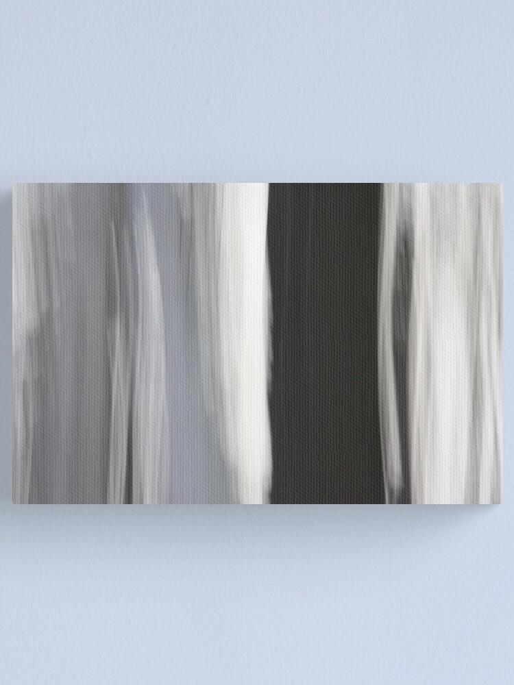 Alternate view of White & Black Trees Canvas Print