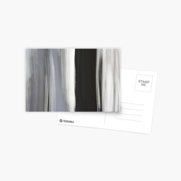 White & Black Trees Postcard