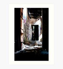 Abandon Hallway Art Print