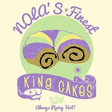 New Orleans NOLA Mardi Gras King Cake Hot Stuff by machmigo