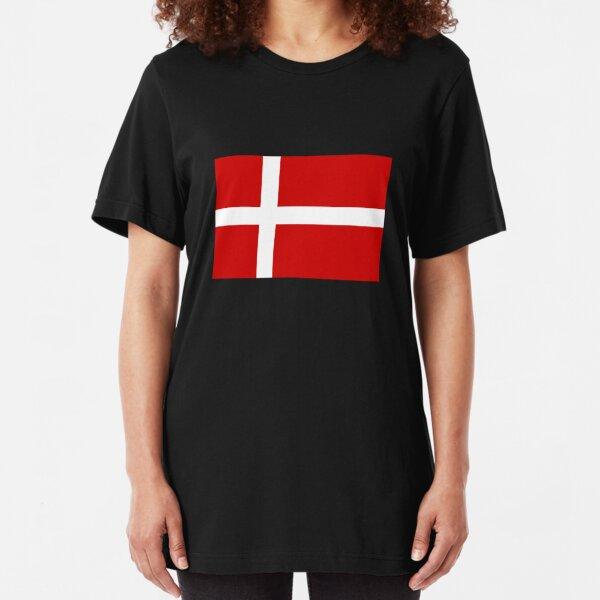 Flag of Denmark Slim Fit T-Shirt