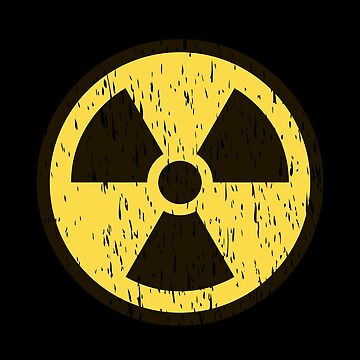 Nuke | Distressed Nuclear Symbol T-Shirt by JohnPhillips