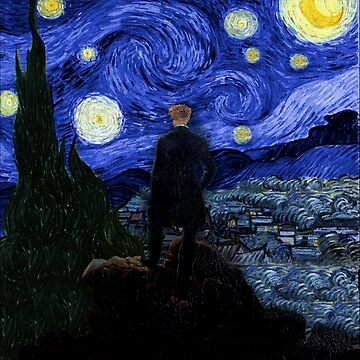 Wanderer under the starry night by FandomizedRose