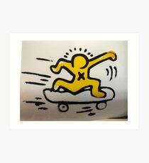 Skateboard Man Art Print