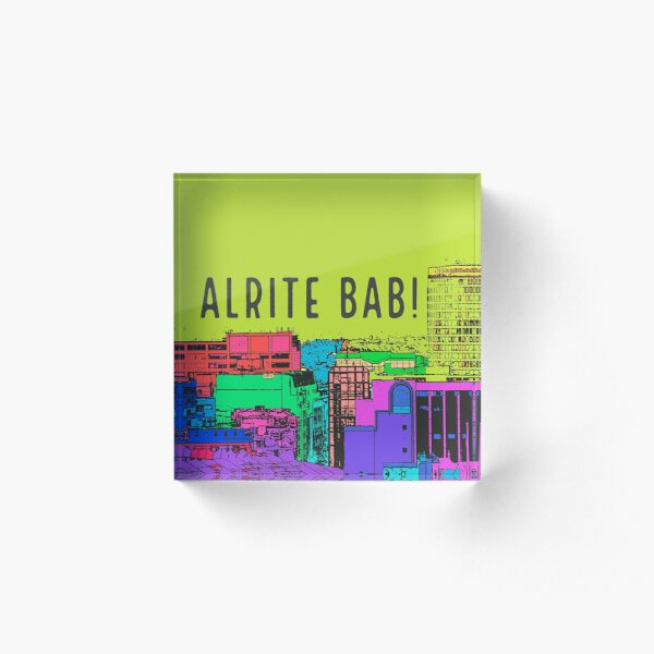 Alrite Bab and Birmingham skyline on gifts Acrylic Block