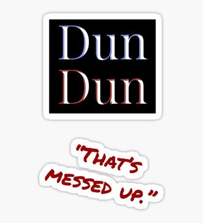Law and Order SVU Dun Dun Intro Sticker