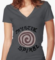 The Spiral Women's Fitted V-Neck T-Shirt