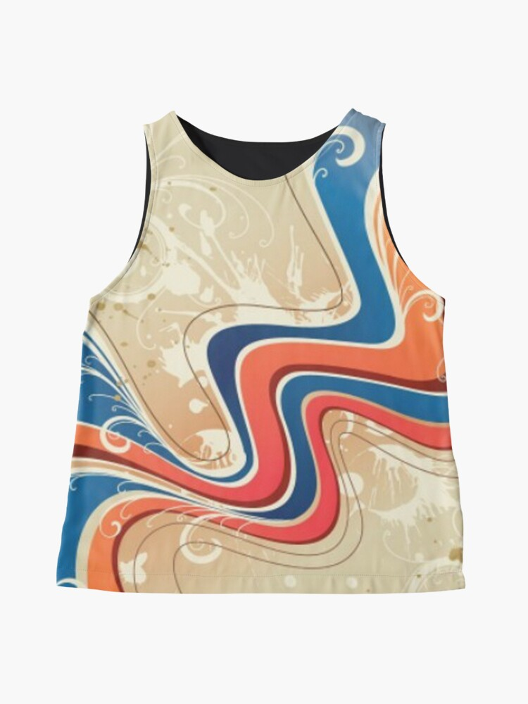 Alternate view of Music Wave Pattern Sleeveless Top