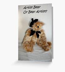 Artist bear Greeting Card