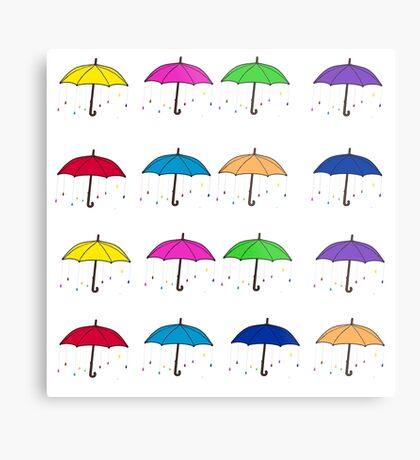 Colorful Umbrellas Metal Print