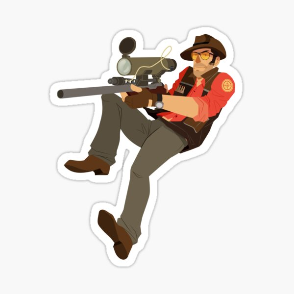 Team Fortress 2- RED Sniper Sticker