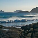 Wilson Promontory, Evening surf. by johnrf