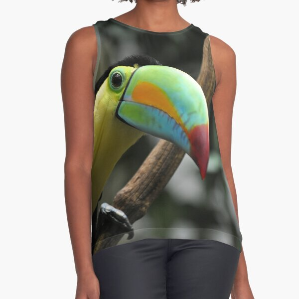 keel-billed, sulfur-breasted or rainbow-billed toucan (Ramphastos sulfuratus) Sleeveless Top