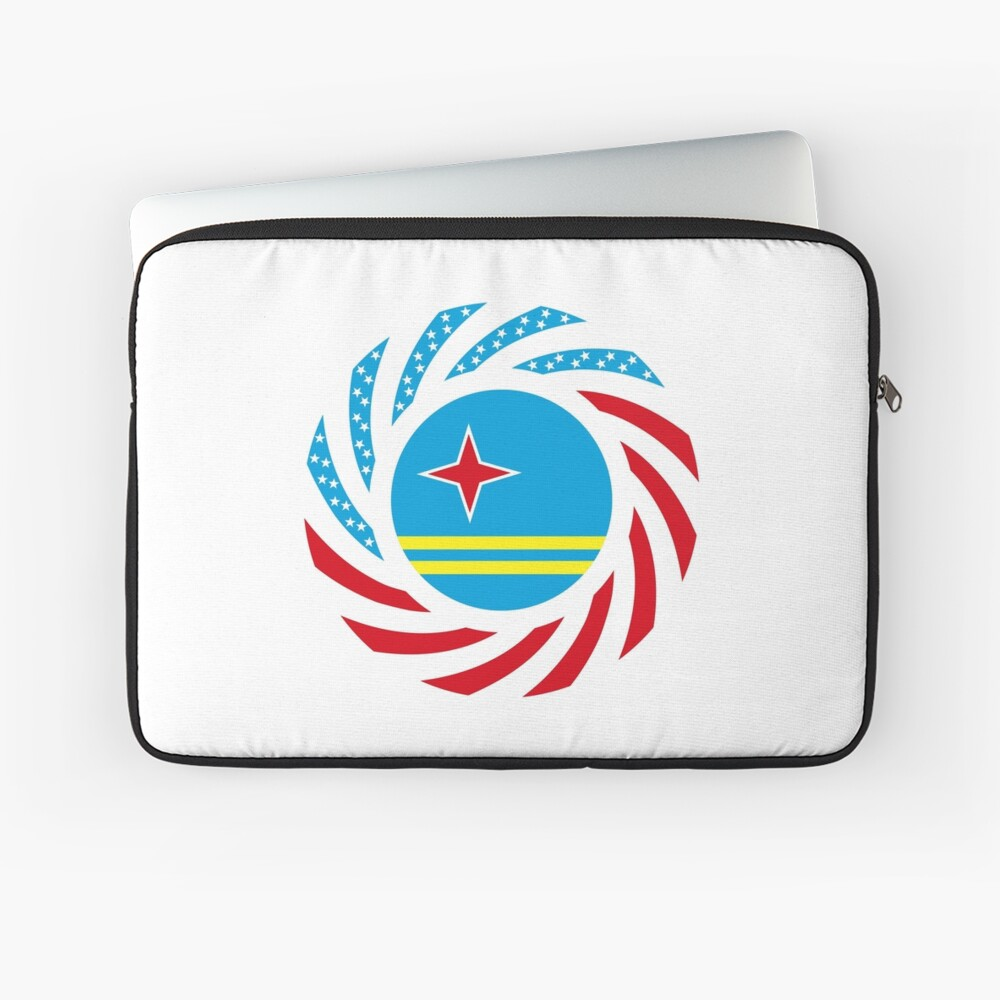Aruban American Multinational Patriot Flag Series Laptop Sleeve